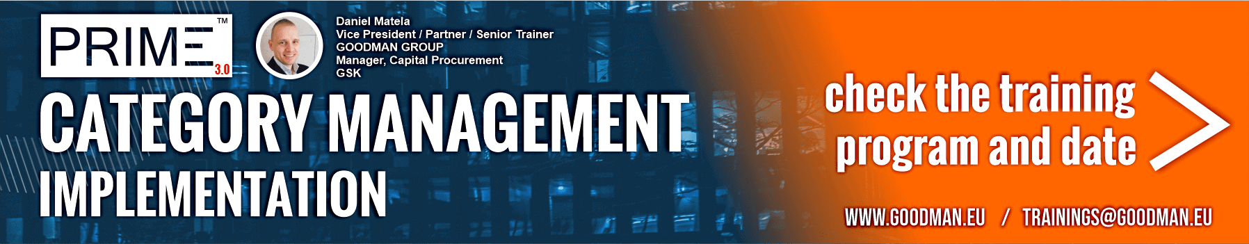 category management business courses webinar training implementation procurement